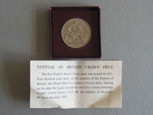 Boxed Crown coin from the Festival