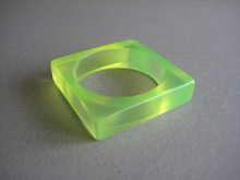Vintage square green bangle